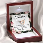 You Are Not Alone Dad Gift For Daughter Interlocking Hearts Necklace