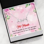 Mi Mundo Scripted Love Necklace Pink Gift For Lover