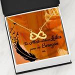 Tus Alas Estaban Listas Infinity Heart Necklace Gift For Women