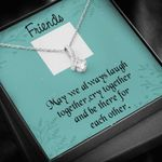 Laugh Together Custom Photo Alluring Beauty Necklace Gift For Friend