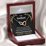 Loving You Has Become My Life Interlocking Hearts Necklace Gift For Lovers