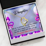 You Fill My Heart With Love And Joy Gift For Daughter 18K Gold   Forever Love Necklace