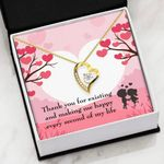 Thank You For Existing And Making Me Happy Every Second Of My Life Gift For Lover   Forever Love Necklace