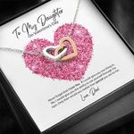 Interlocking Hearts Necklace Dad Gift For Daughter How Special You Are