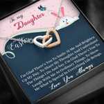Interlocking Hearts Necklace Gift For Daughter Buunny Laugh With Me