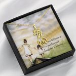 To My Daughter Love Between A Mother And Daughter Giraffe Couple Necklace