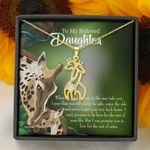 Whenever Life Takes You Giraffe Couple Necklace Gift For Daughter