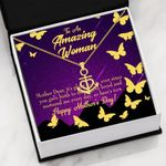Yellow Butterfly Happy Mother's Day Gift For Mom Anchor Necklace