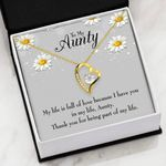 Thank You For Being Part Of My Life Gift For Aunty   Forever Love Necklace