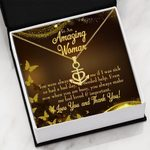 Love You And Thank You Gift For Mom Anchor Necklace