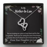 You Are Trusting Me Gift For Mother In Law Double Hearts Necklace