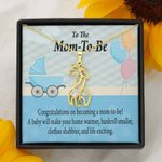 To The Mom To Be Make Your Home Warmer Giraffe Couple Necklace