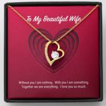 Without You 18K Gold Forever Love Necklace Gift For Wife