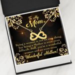 Infinity Heart Necklace Gift For Mom Being A Woman Is Not An Easy Thing