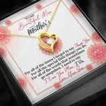 To My Mom Happy Mother's Day From Son Thank You Forever Love Necklace
