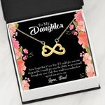 Infinity Heart Necklace Dad Gift For Daughter Never Forget I Love You
