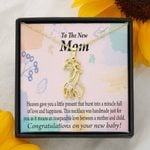 To The New Mom Full Of Love And Happiness Giraffe Couple Necklace