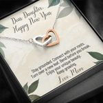 Interlocking Hearts Necklace Mom Gift For Daughter Turn Over A New Leaf
