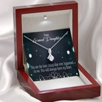 You Are The Best Thing Gift For Granddaughter 14K White Gold Alluring Beauty Necklace With Mahogany Style Gift Box