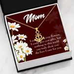 The Love I Care For You Message Card Anchor Necklace Gift For Mom