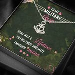 Some Wait A Lifetime To Find Their Soulmate Gift For Military Wife Stainless Anchor Necklace