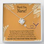 Love Knot Necklace Gift For Nurse You Help Us To Get Our Health Back