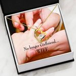 No Longer Girlfriend Gift For Wife 18K Gold   Forever Love Necklace