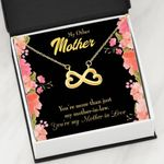 Mother In Love Floral Infinity Heart Necklace Gift For Mom
