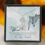 The Most Beautiful Thing In The World Giraffe Couple Necklace Daughter Gift For Mom