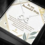 To My Beautiful Wife Someone Like You Infinity Heart Necklace