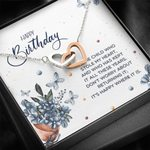Interlocking Hearts Necklace Birthday For Women It's Happy Where It Is
