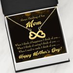 Infinity Heart Necklace Gift For Mom Thinking Of You