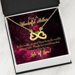 Thanks For Everything You've Done Infinity Heart Necklace Gift For Mom