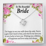 Love Knot Necklace Gift For Bride A Lifetime Of Happiness