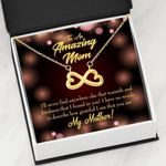 Infinity Heart Necklace Gift For Mom Warmth And Kindness