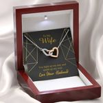 Interlocking Hearts Necklace Gift For Wife You Light Up My Day