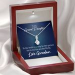 You Are The World To Me Gift For Granddaughter 14K White Gold Alluring Beauty Necklace