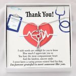 Stethoscope Necklace Gift For Nurse Forever Grateful To Meet Someone Like You