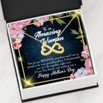 Infinity Heart Necklace Gift For Mom You Are An Awesome