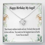 Love Knot Necklace Birthday Gift For Wife Your Beauty Radiates Inside And Out