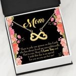 Thank For Always Loving Me Infinity Heart Necklace Gift For Mom