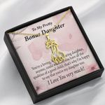To My Bonus Daughter All The Qualities Giraffe Couple Necklace