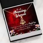 Thank You For All You've Done For Me Gift For Mom Anchor Necklace