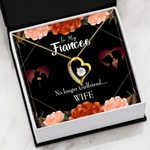 No Longer Girlfriend Wife Gift For Fiancee 18K Gold   Forever Love Necklace