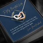 Interlocking Hearts Necklace Gift For Wife In The Moment We Met