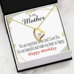 Happy Birthday You Are Important To Me Gift For Mother Forever Love Necklace