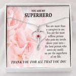Thank You Pink Rose Stethoscope Necklace Gift For Nurse