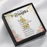 To My Daughter Designed By God Giraffe Couple Necklace