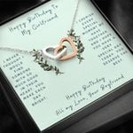 Interlocking Hearts Necklace Gift For Lovers You Make Ech Day Bright
