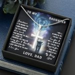 Lion Ancestor Always Be There Cross Necklace Dad Gift For Daughter